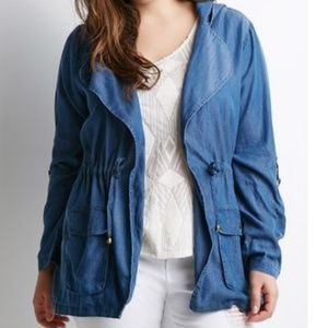 Forever 21 Plus Chambray Utility Jacket